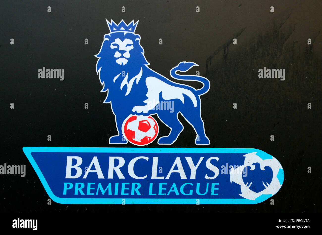 "Das Logo der Marke ""Barclays Premier League"", Berlin. Stockbild"