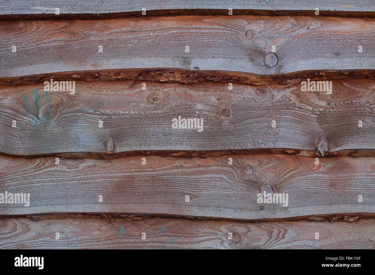 Holz Runde Verkleidung auf einer traditionellen Eichenrahmen ...