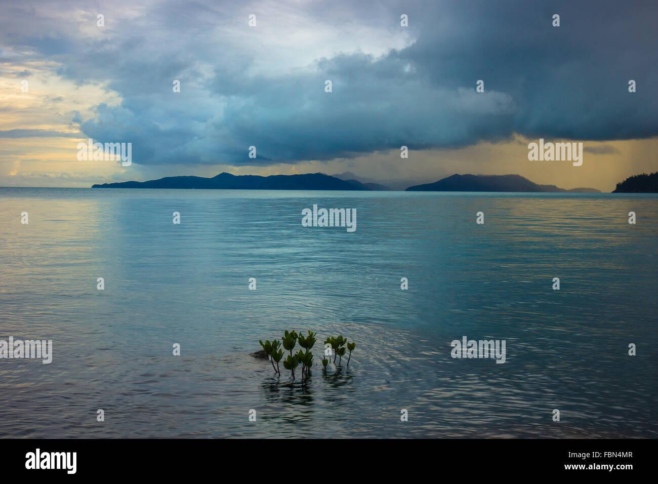 Sturm über Whitsunday Island Stockbild