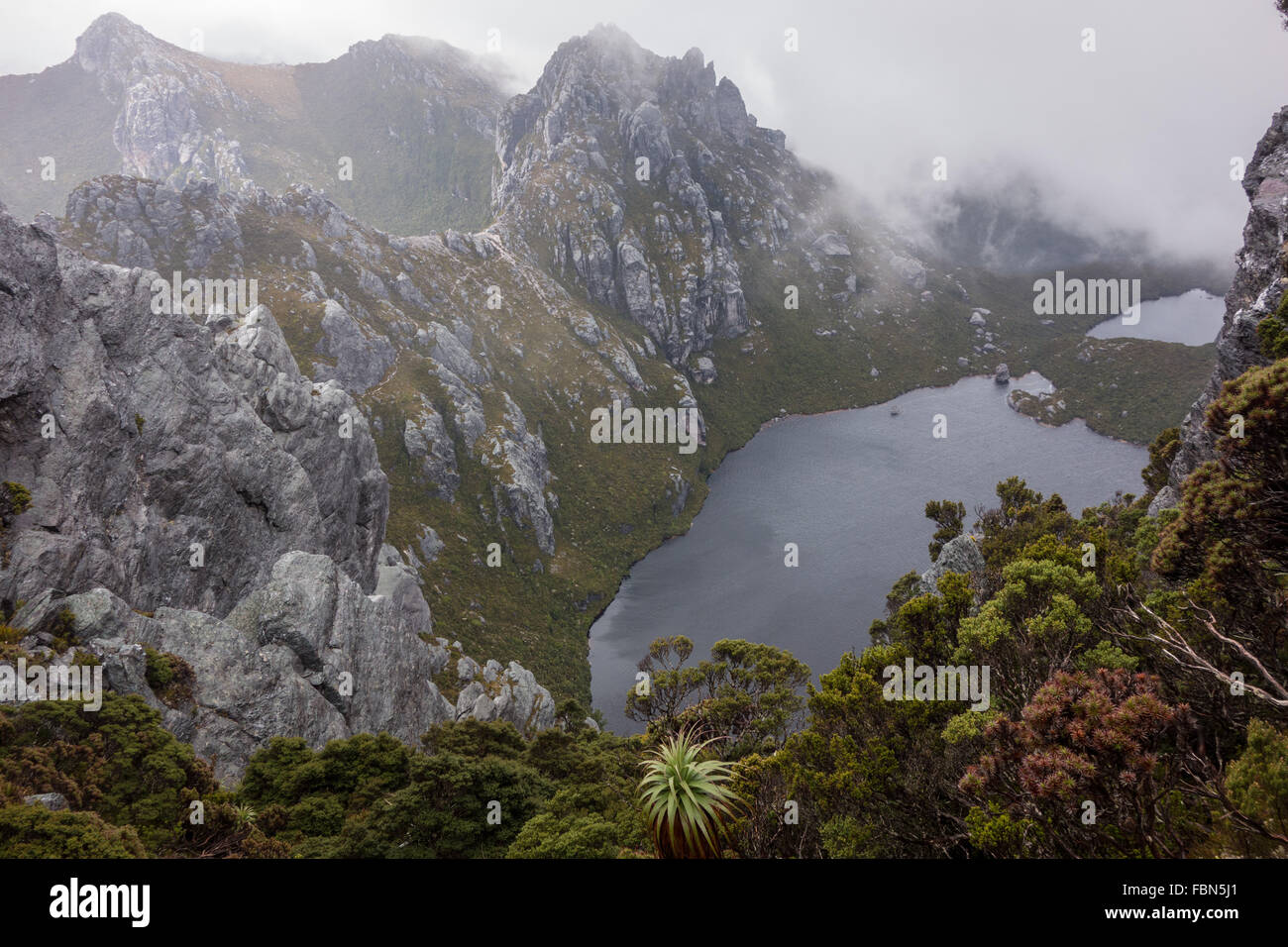 Seen und Berge, Western Arthurs Sortiment Stockbild
