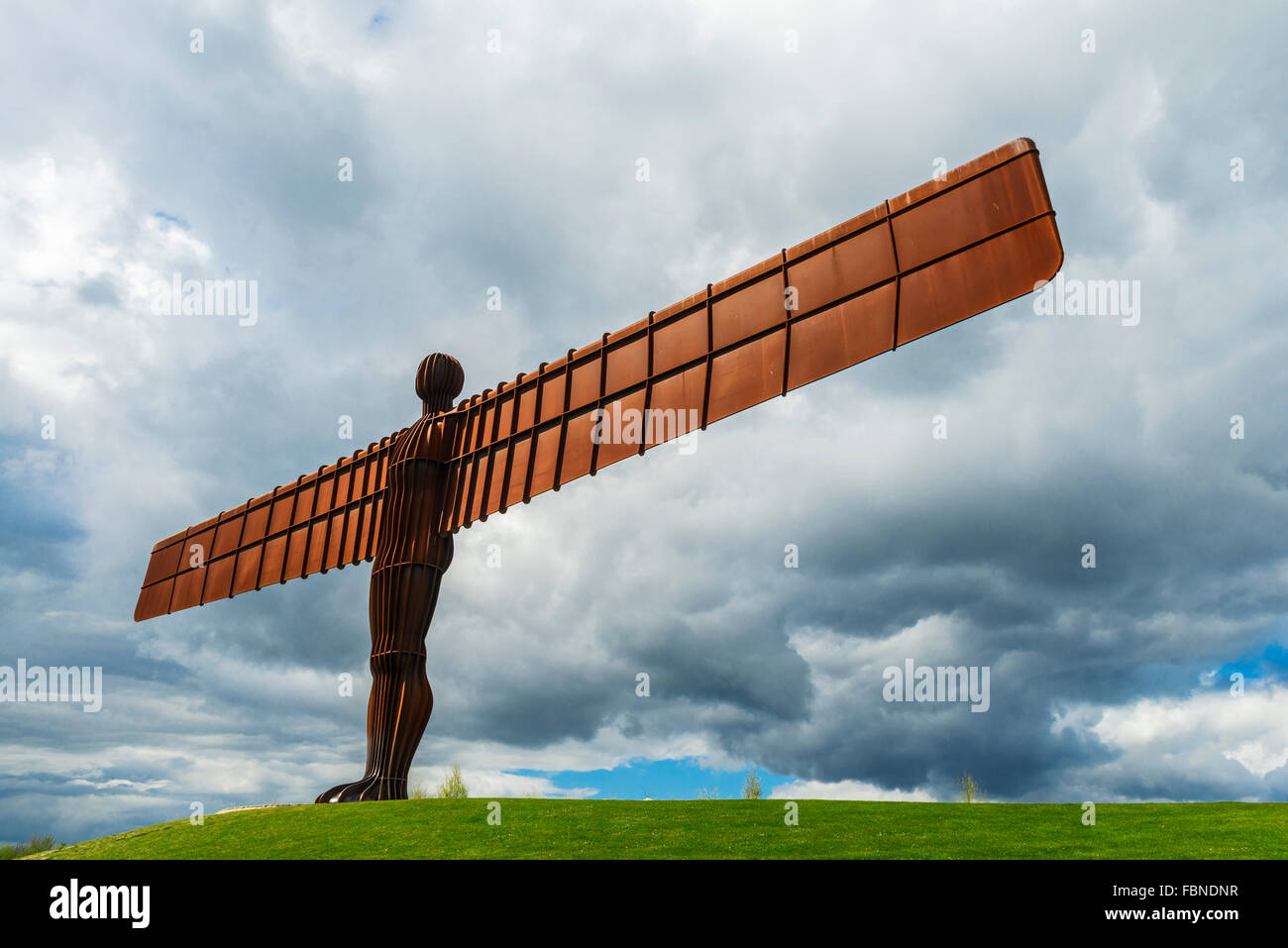 Engel des europäischen Nordens Anthony Gormley Gateshead Tyne and Wear Nordostengland UK Stockbild
