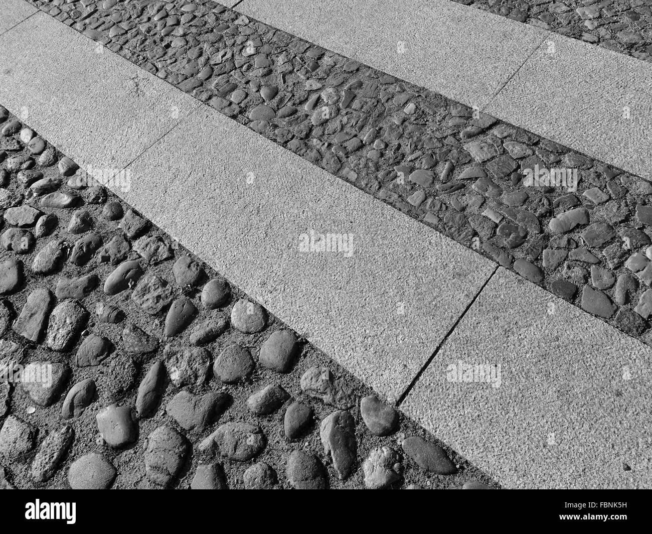 Hintergründe der Pebble Gehweg Stockbild