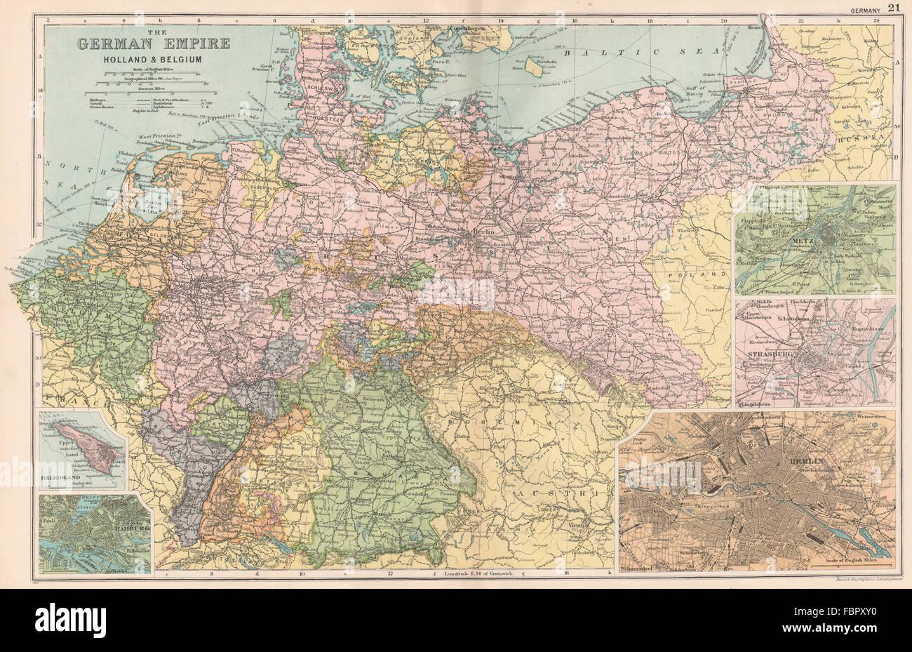 Karte Von Holland Und Belgien.Deutschland Holland Belgien Berlin Helgoland Hamburg Metz