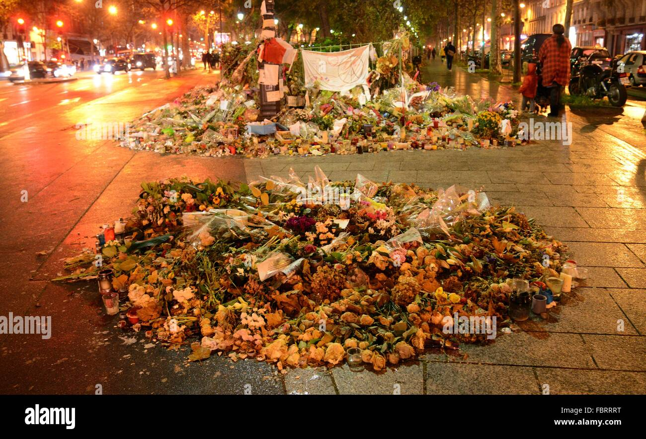 Konzerthauses Bataclan in Paris in Paris, Dez. 11, 2015. Stockbild
