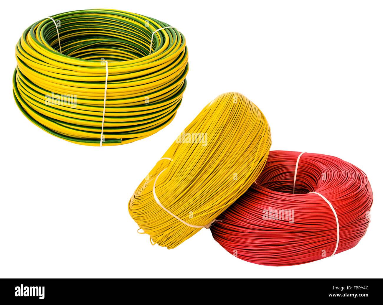 Farbige Elektrokabel studio stockfotos studio bilder alamy
