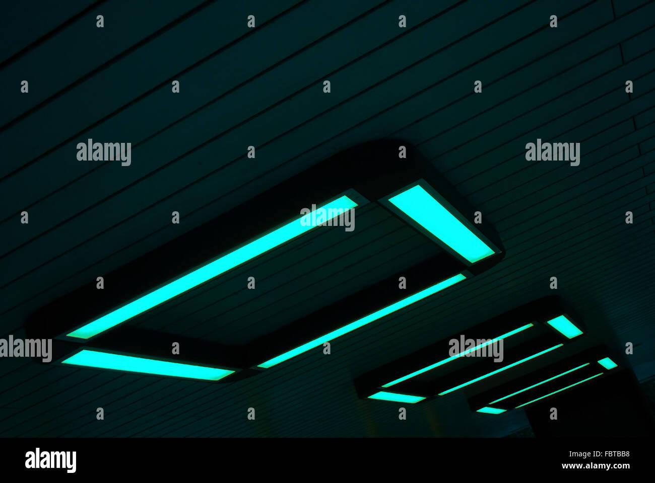 Neon-Leuchten Stockbild