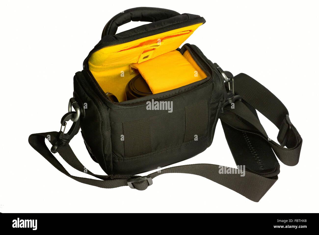 Besorgnis Tasche Mit Einer Kamera Stockbild
