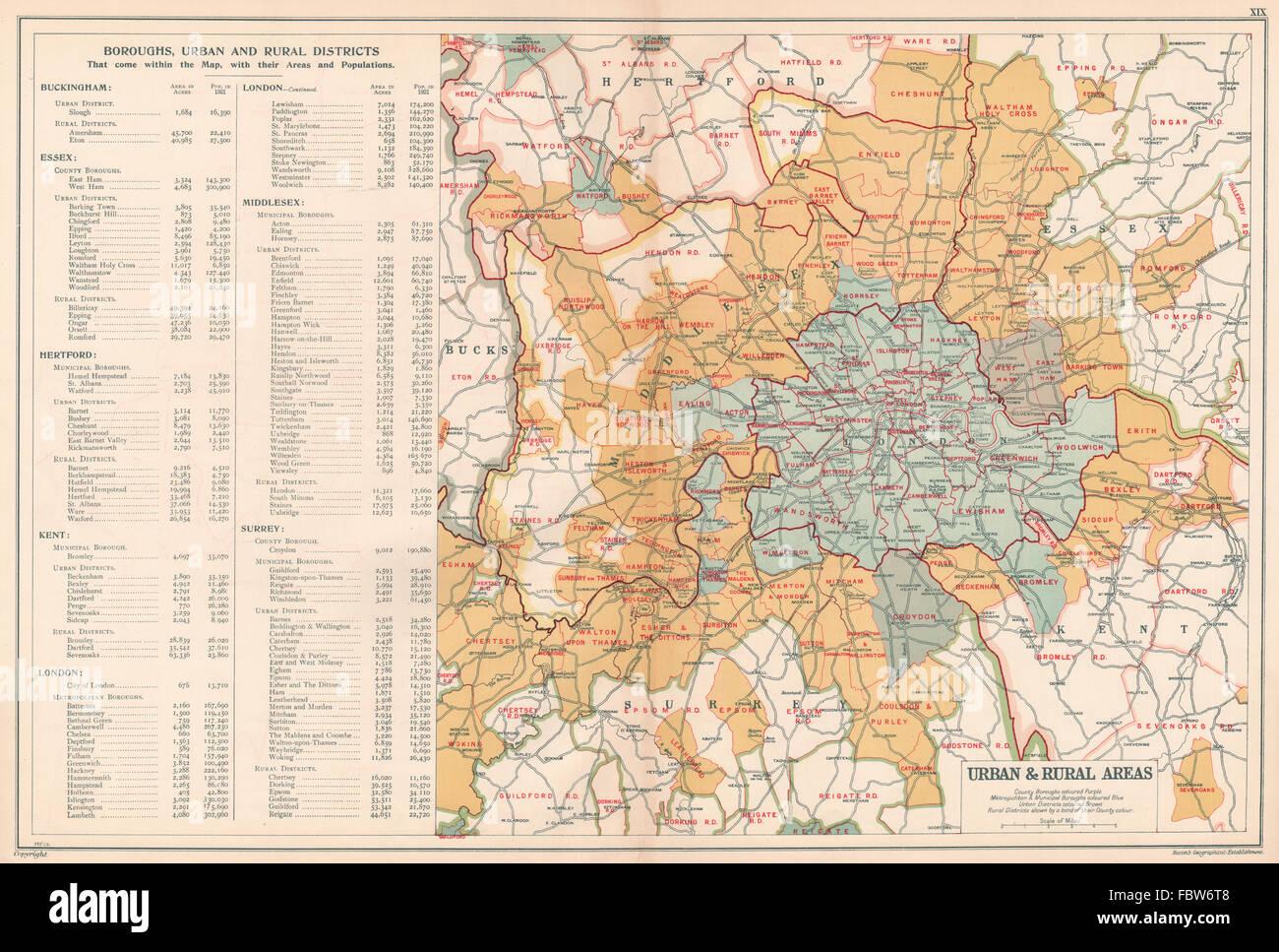Karte London Stadtteile.London Stadtische Bezirke Stadtteile Landliche Bereiche