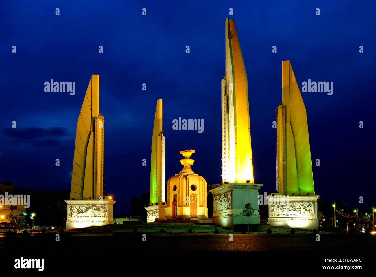 Democracy Monument, Bangkok, Thailand Stockbild