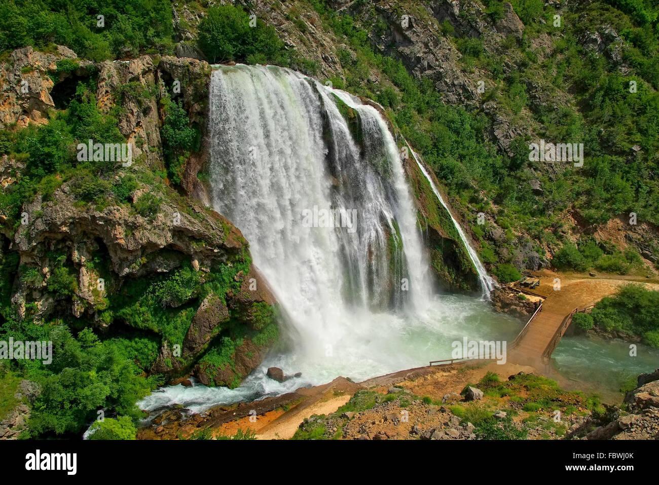 Krcic Wasserfälle - Wasserfall Krcic 15 Stockbild