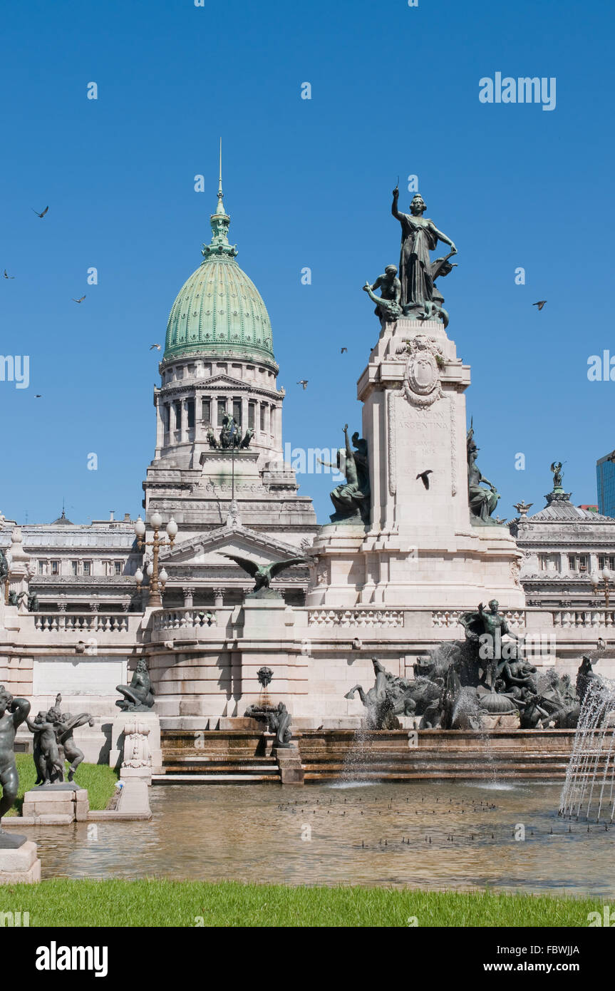 Nationaler Kongress-Gebäude, Buenos Aires, Argentinien Stockbild