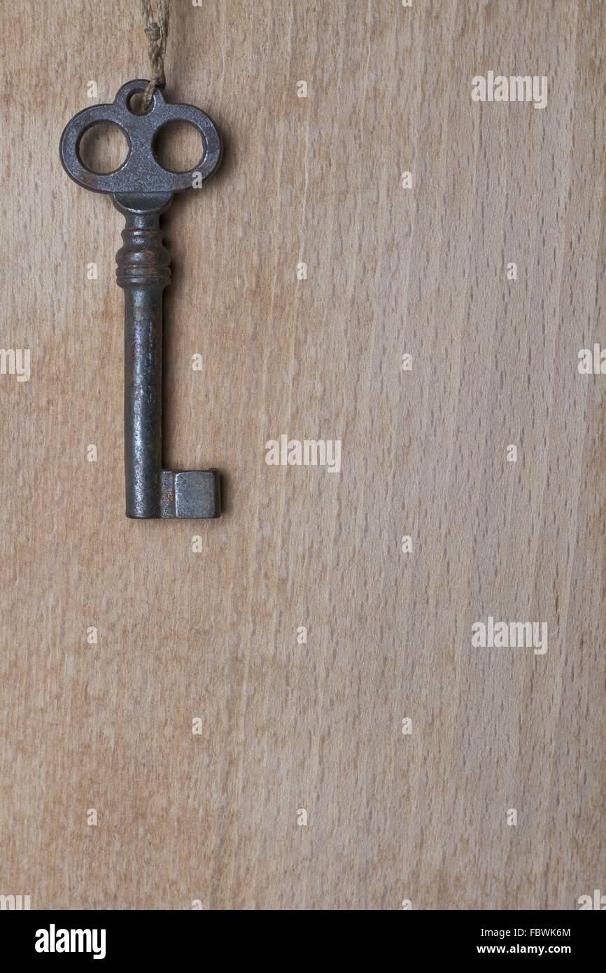 Alt-Taste auf eine Holzoberfläche Stockbild