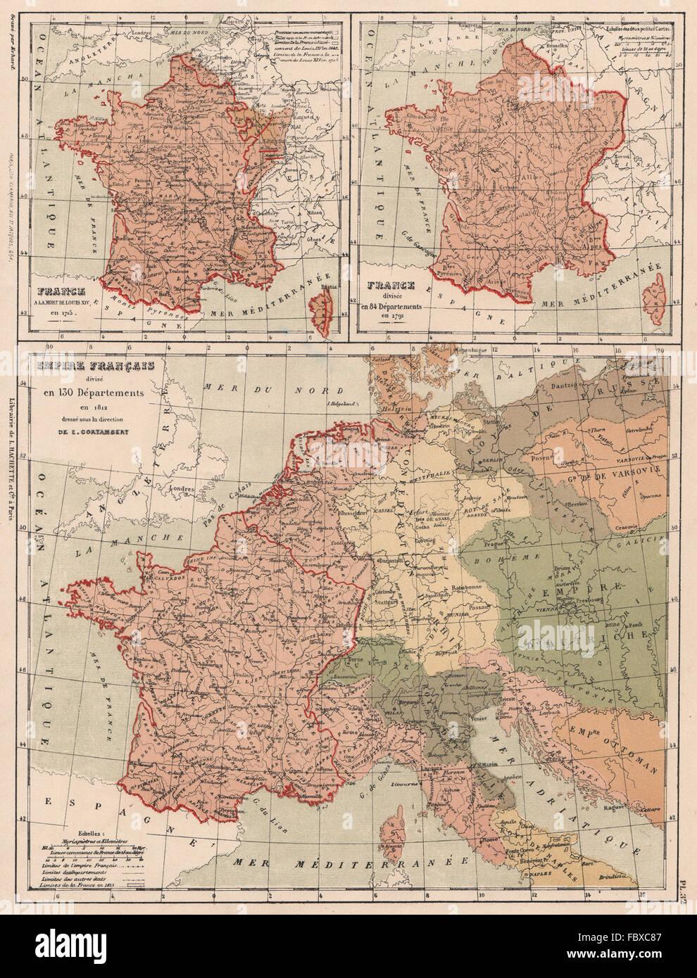 Frankreich Departements Karte.Frankreich Im Jahre 1715 In 84 Abteilungen Im Jahr 1791 In 130