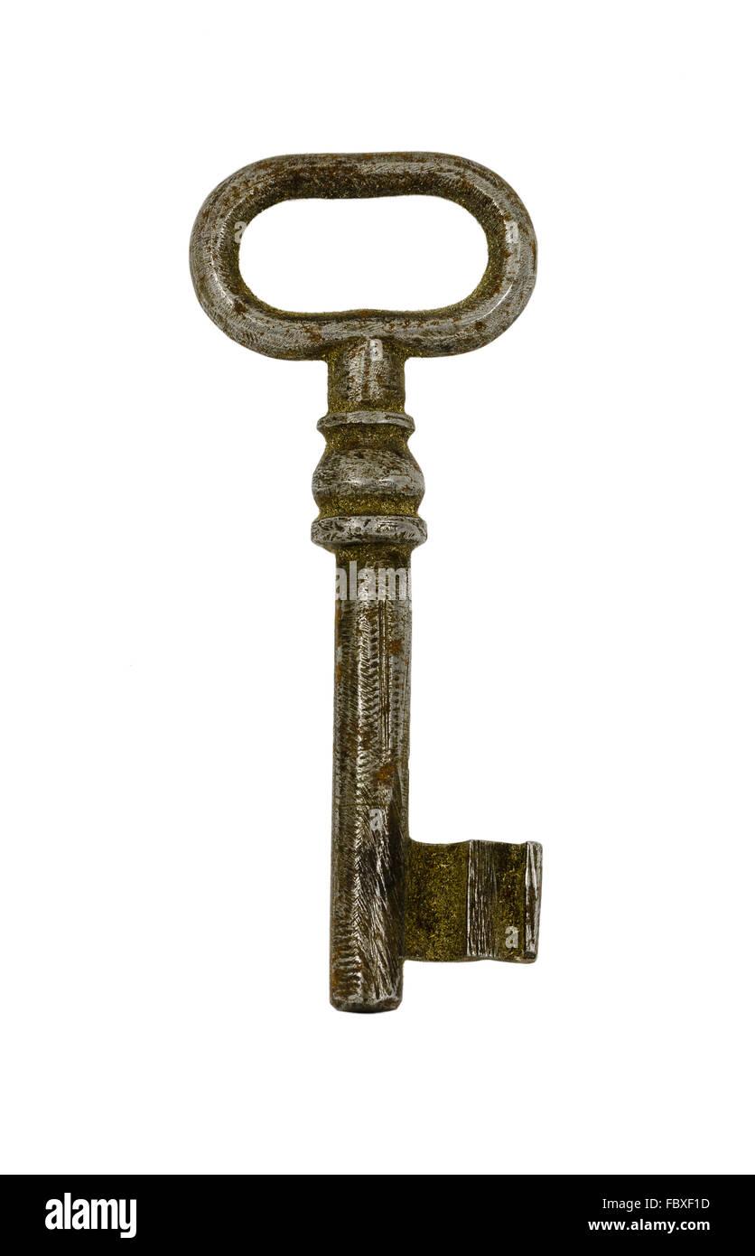 großen rostigen alten Schlüssel Stockbild