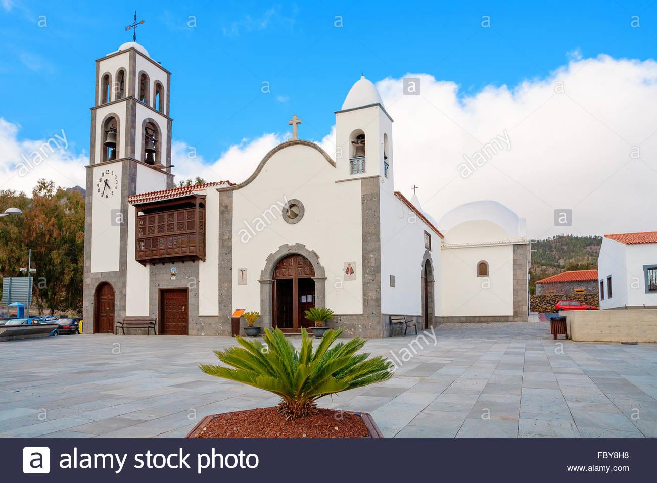 Santiago del Teide. Teneriffa, Spanien Stockbild