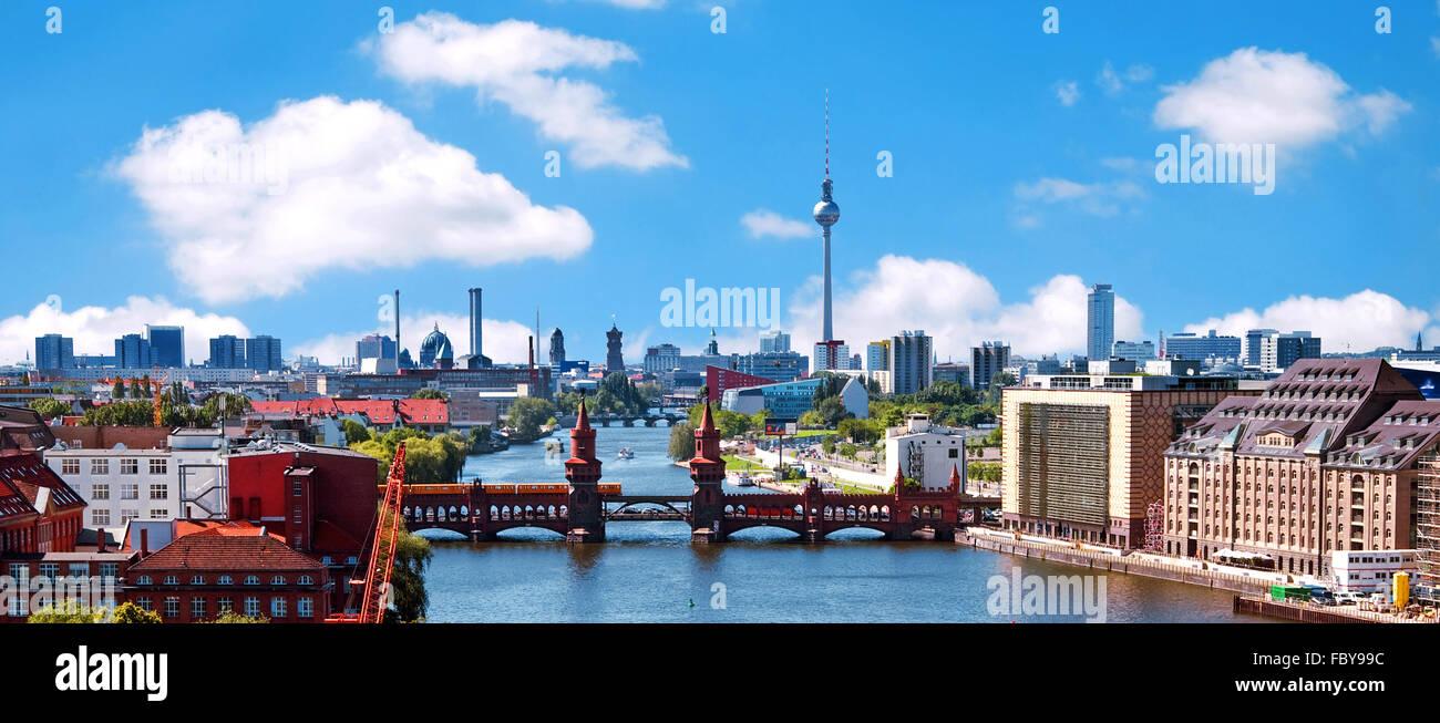 Luftaufnahme Berliner skyline Stockbild