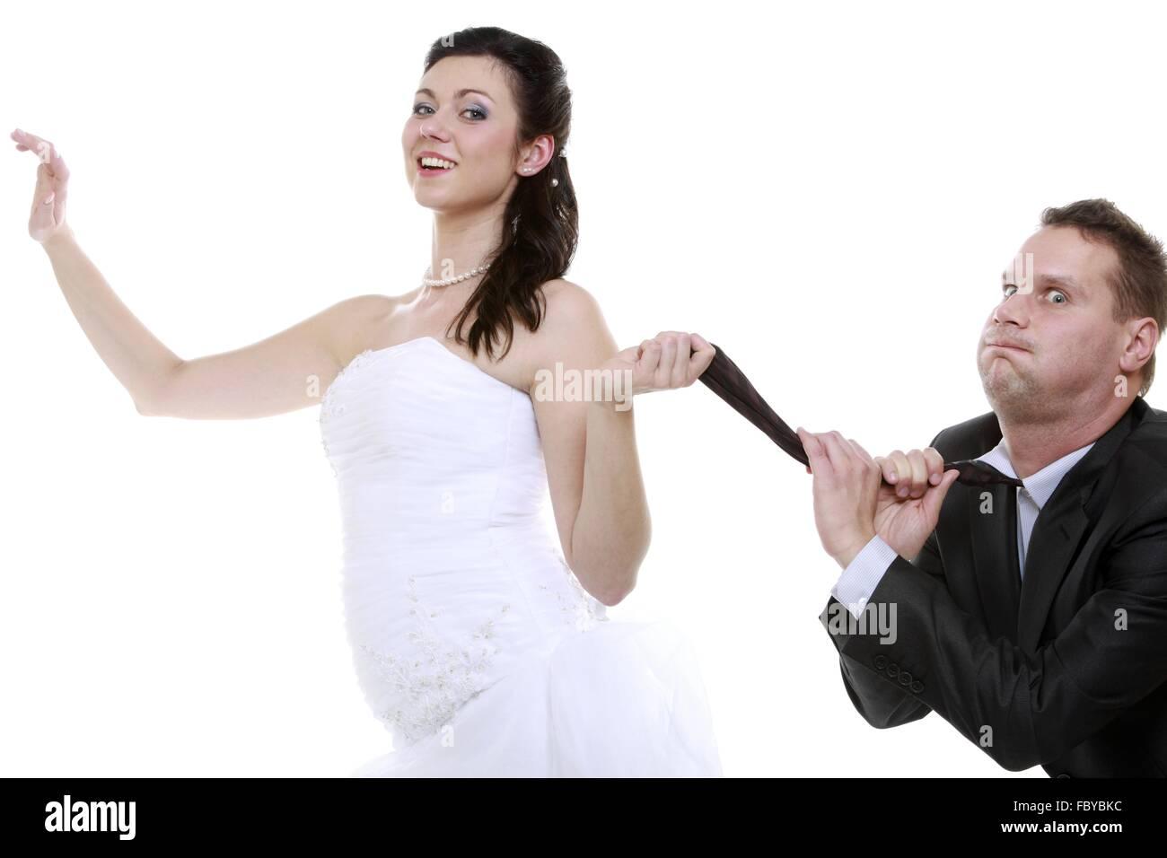 Exquisit Hochzeit Bilder Lustig Beste Wahl Humorvoll, Paar Braut Und Bräutigam - Frau
