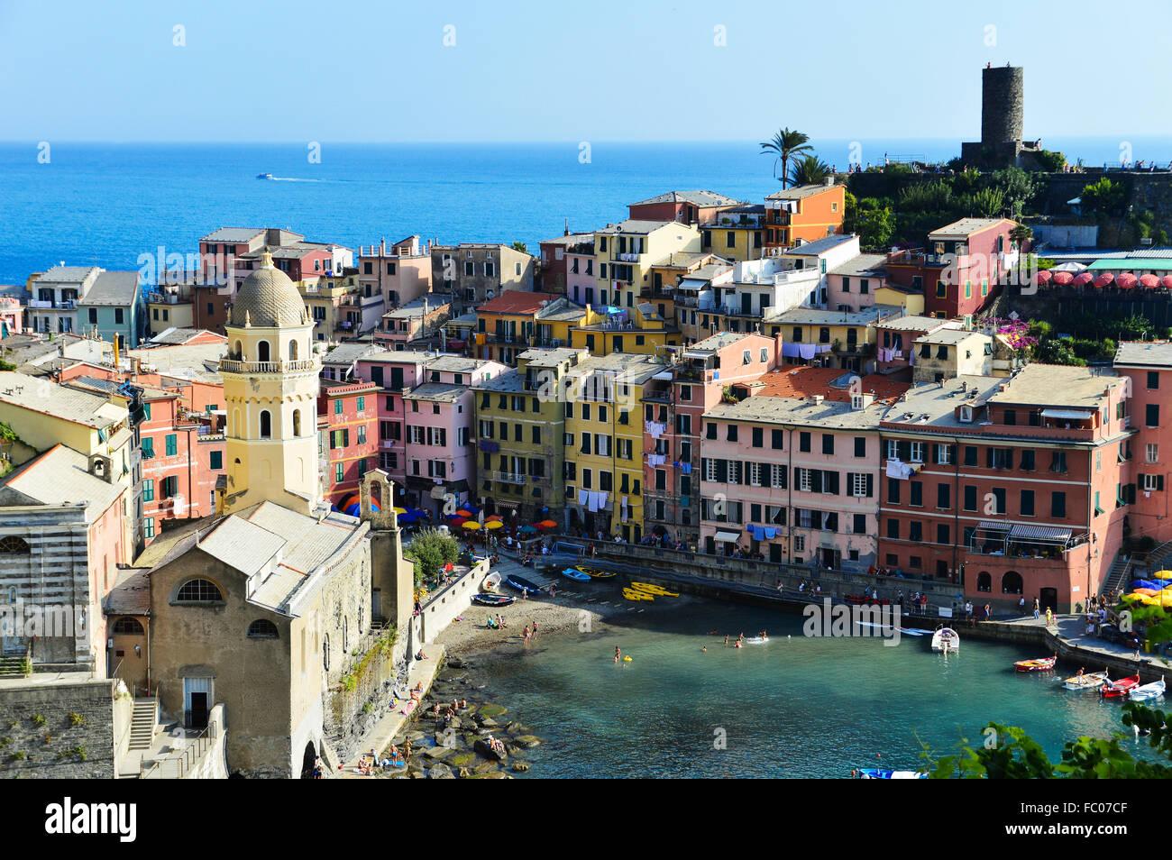 Mediterrane Architektur traditionelle mediterrane architektur vernazza stockfoto bild