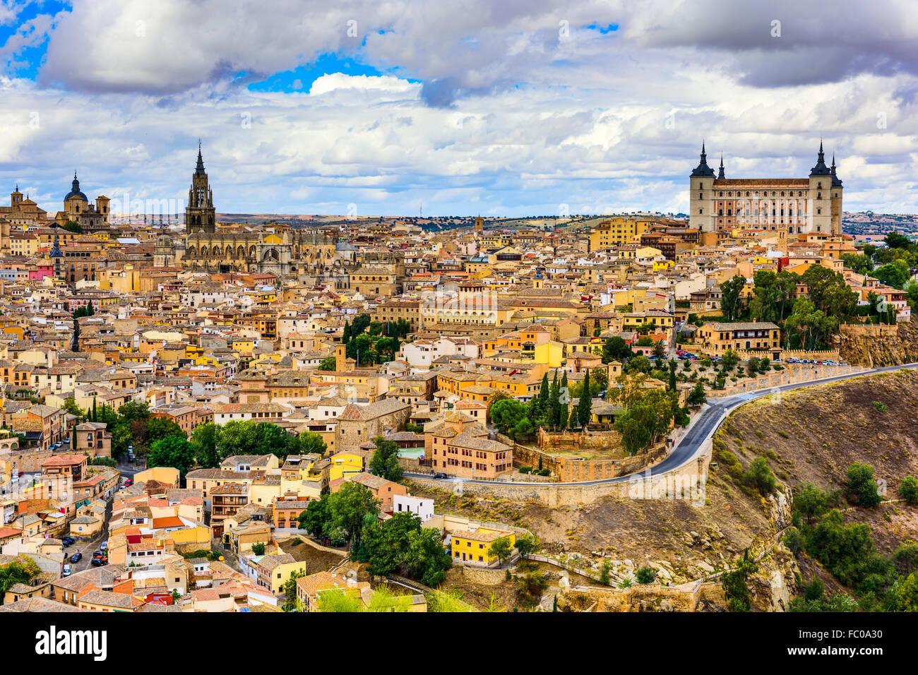 Toledo, Spanien alt Stadt Stadt Skyline. Stockbild