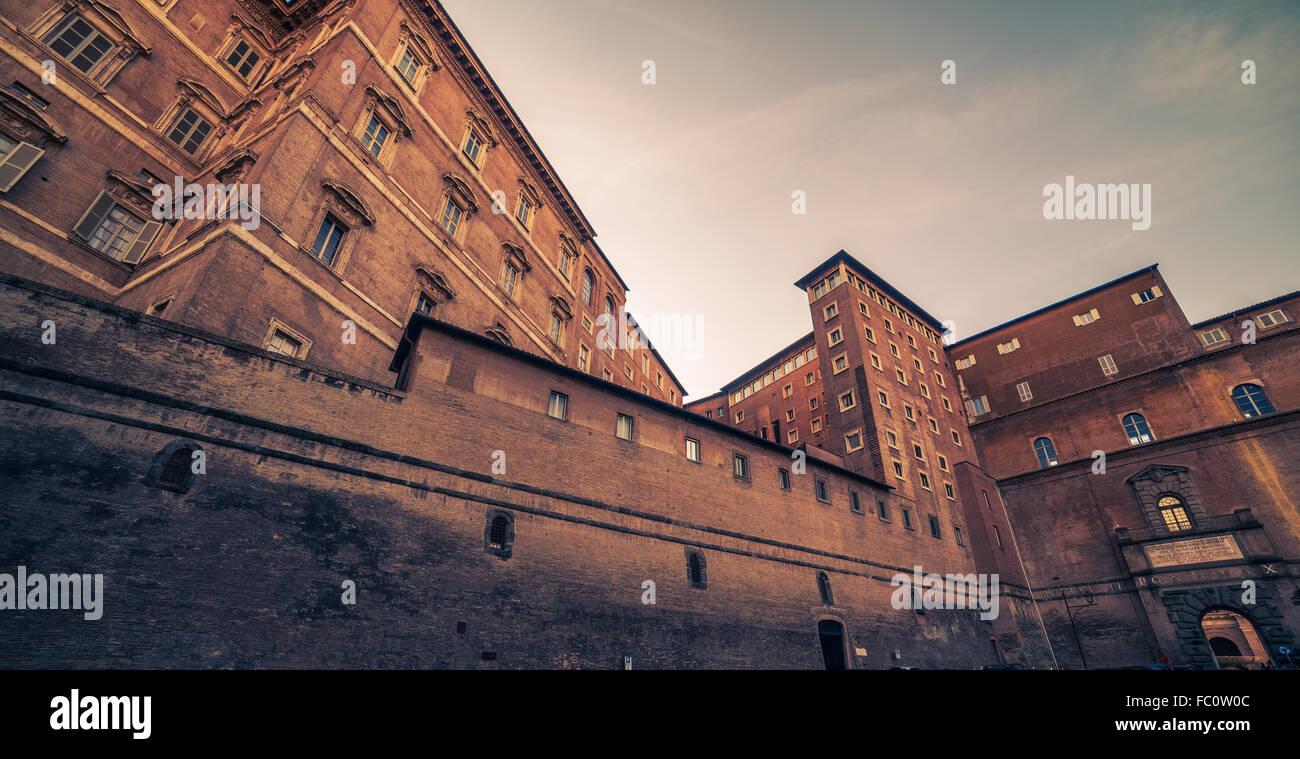 Vatikan und Rom, Italien: Hof Stockbild