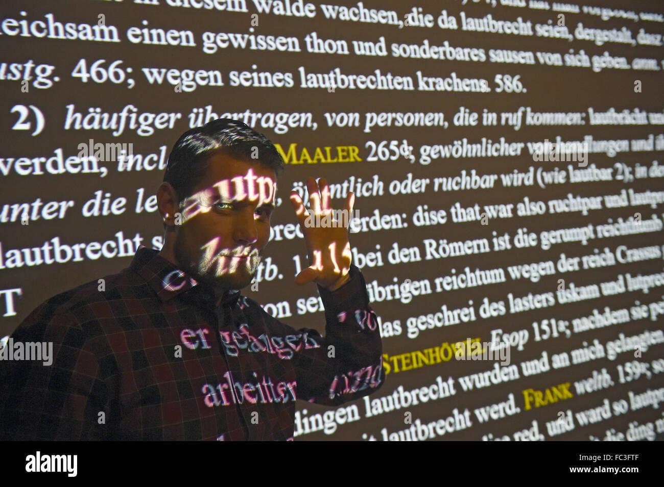 Kassel Deutschland 20 Januar 2016 Damien Puckler Ein Deutscher