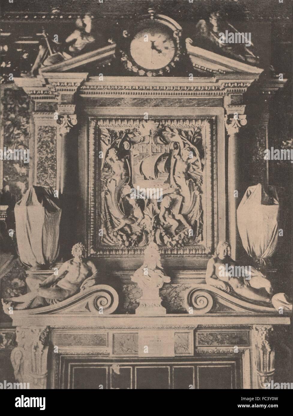 PARIS KOMMUNE 1871. Intérieur de l ' Hotel de Ville Avant zeichnet, c1873 Stockbild