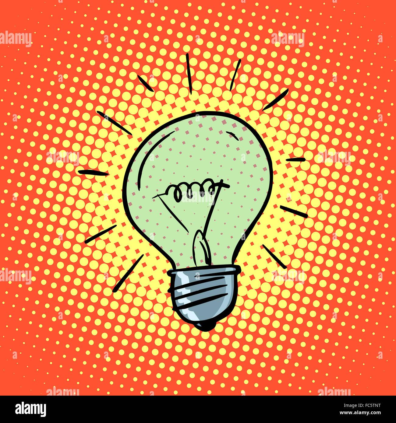 Glühbirne Strom Symbol Ideen Stockbild