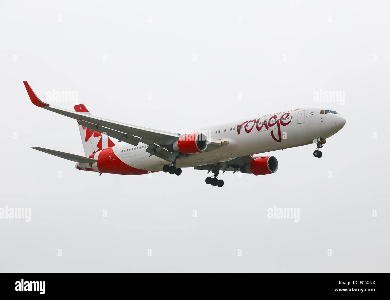 Air Canada Rouge Stockbild
