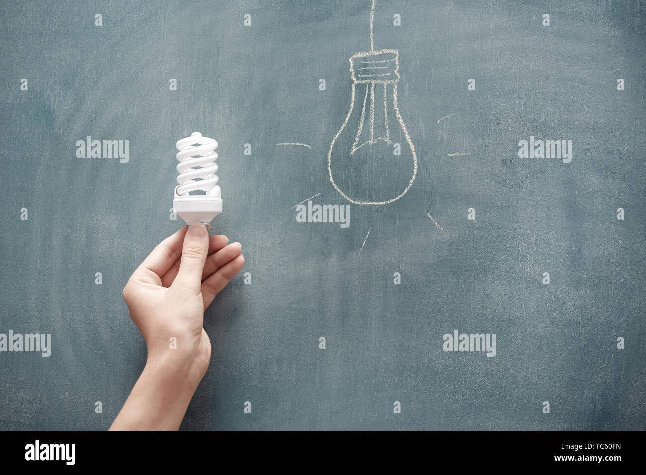 Energiesparen Stockbild