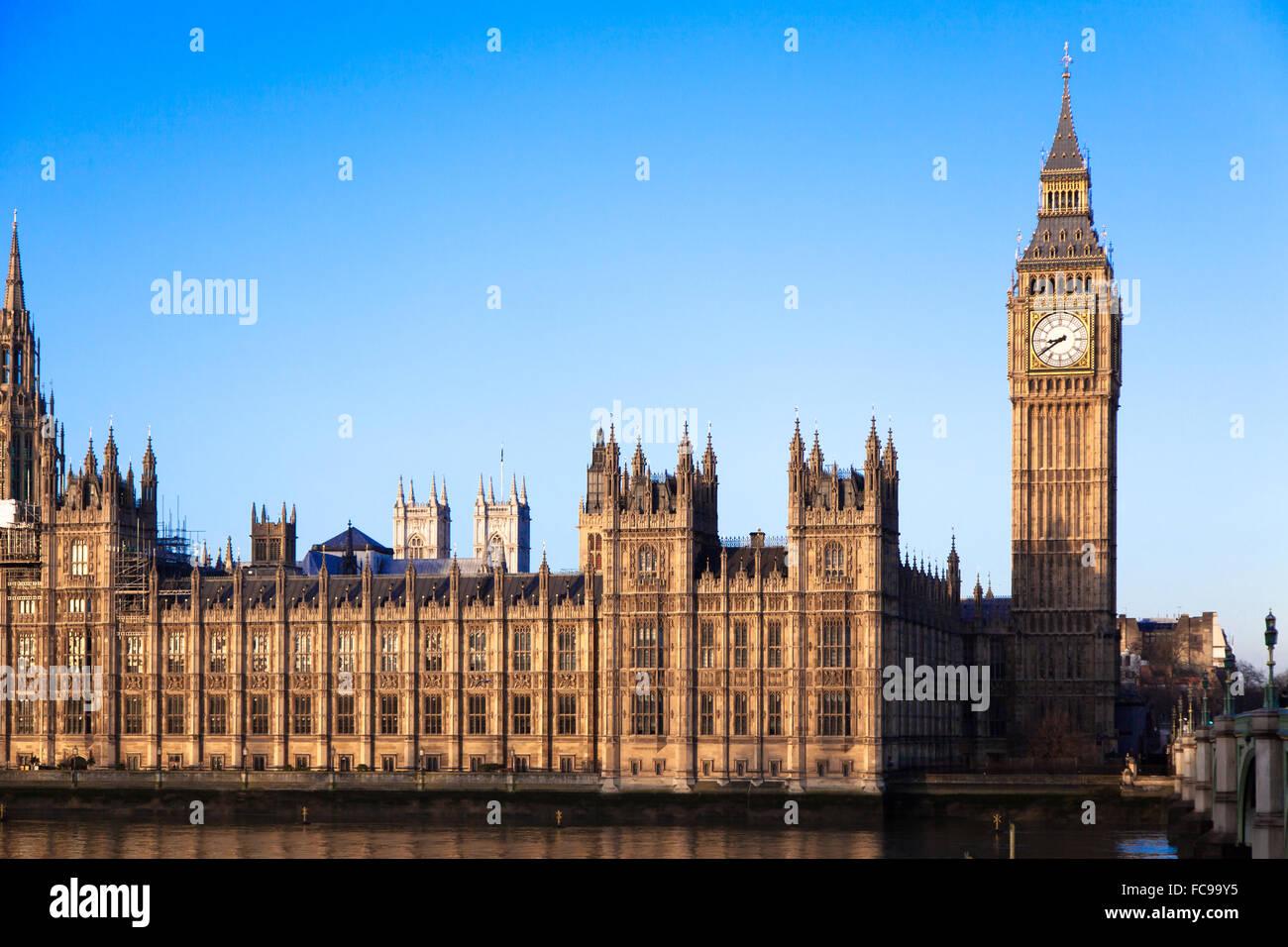 Berühmten Big Ben im Zentrum von London Stockbild