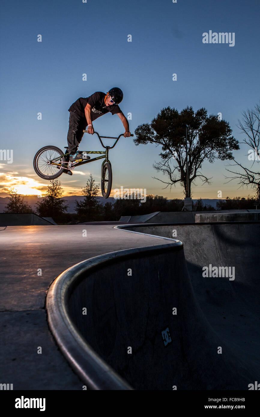 BMX Radfahren Stockbild