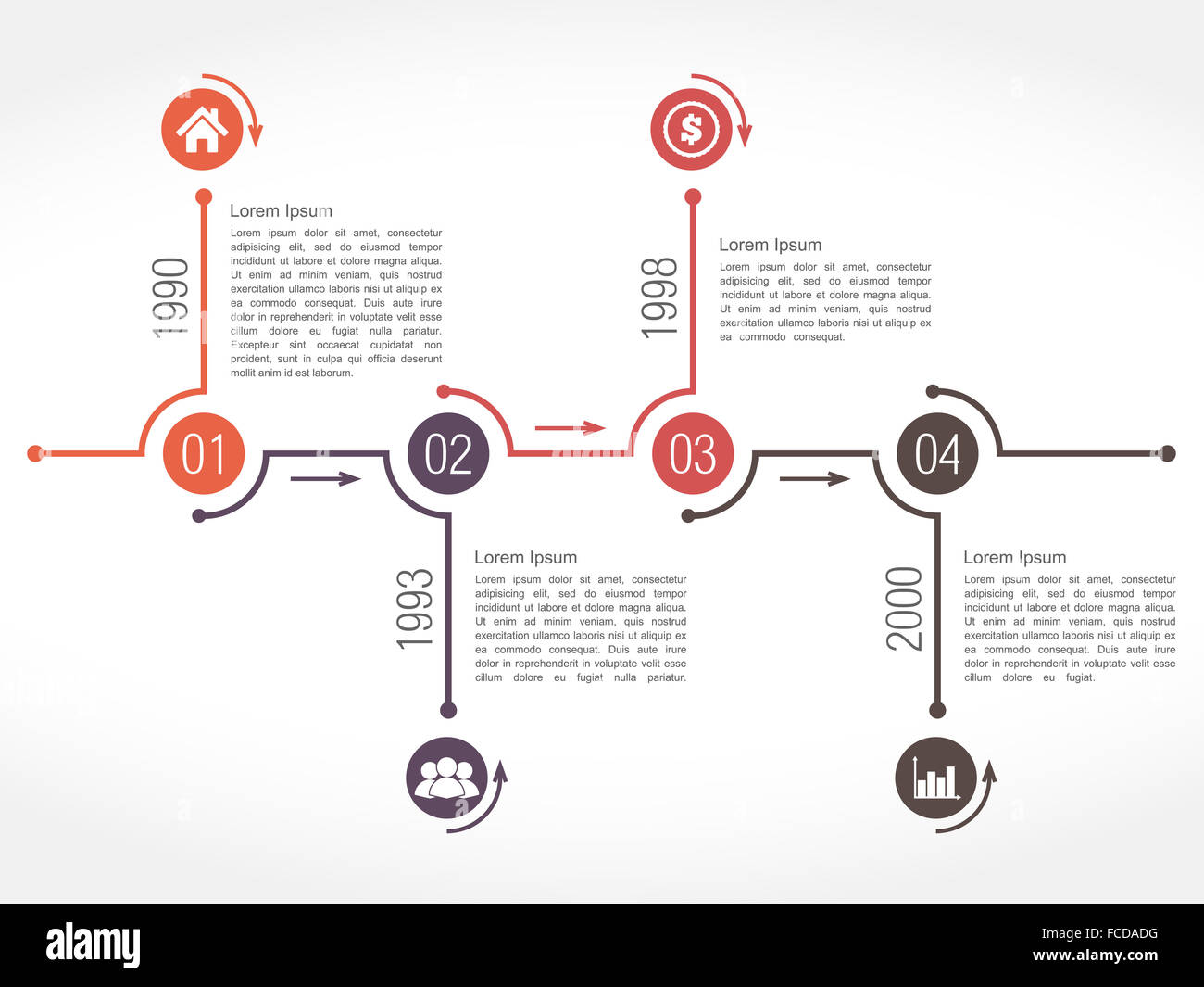 Timeline Infographics Template Place Dates Stockfotos & Timeline ...