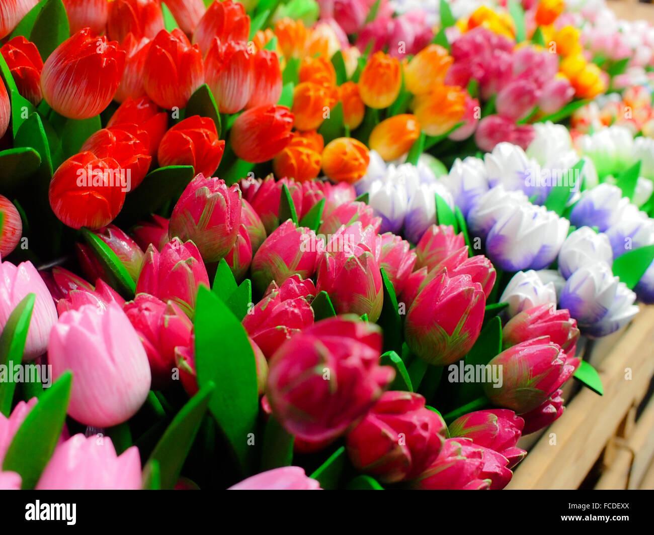 Hintergründe von bunten Blumen Stockbild