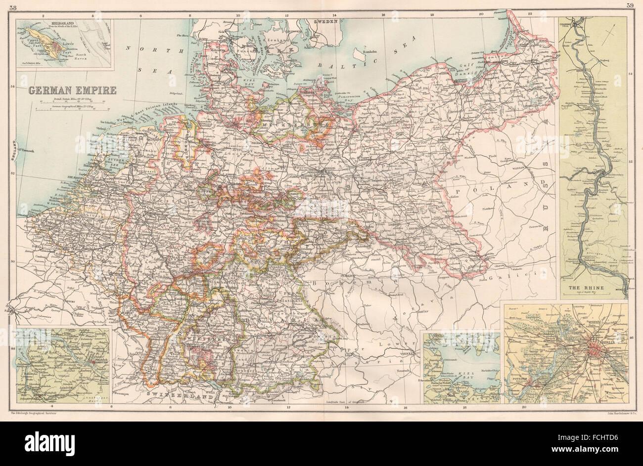 Kieler Bucht Karte.Deutsches Reich Inset Kieler Bucht Der Rhein Berlin Hamburg