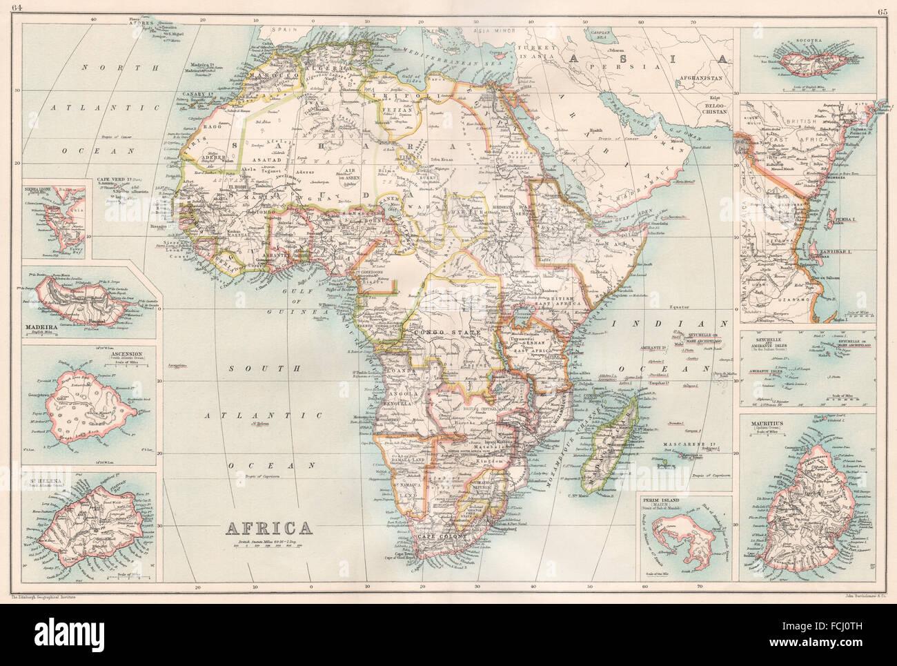 Seychellen Karte Afrika.Afrika Inseln Madeira St Helena Socotra Sansibar Seychellen