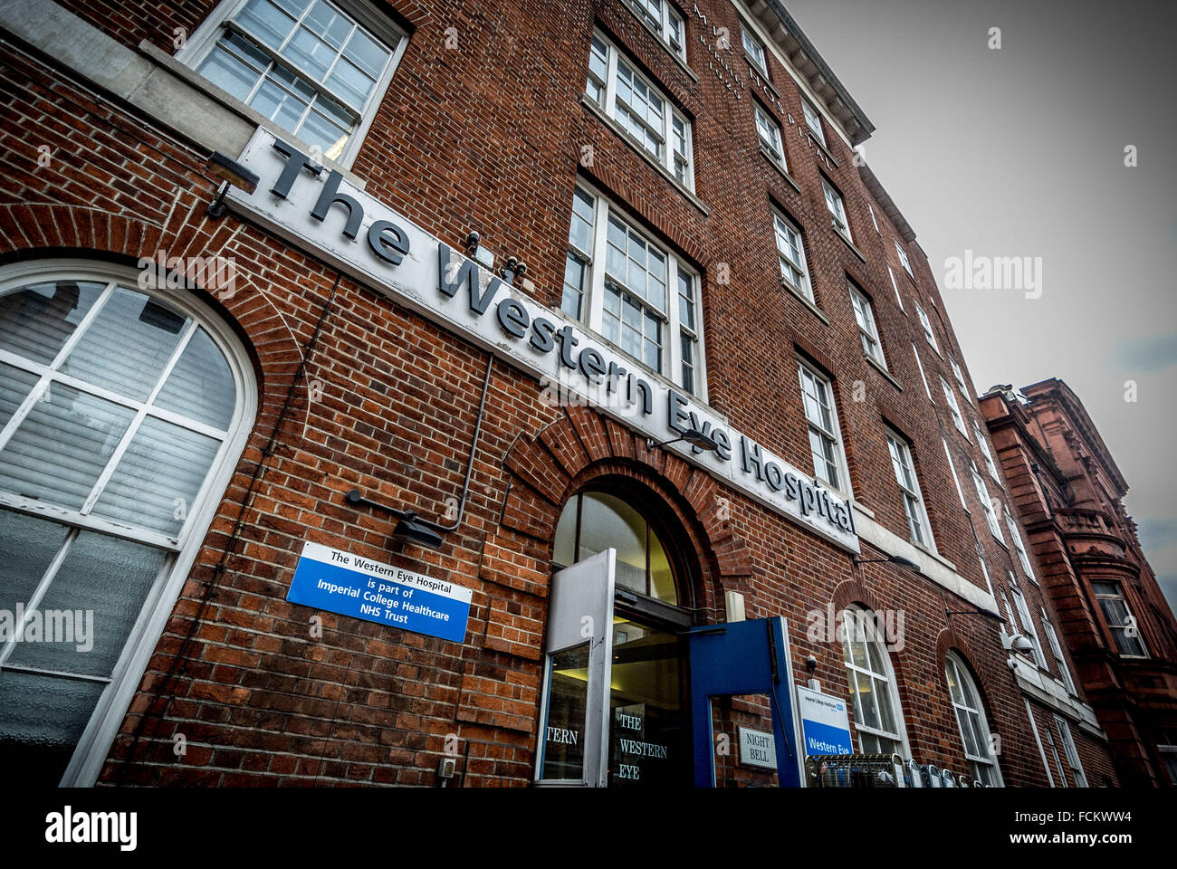 Die westlichen Eye Hospital, London, UK. Stockbild