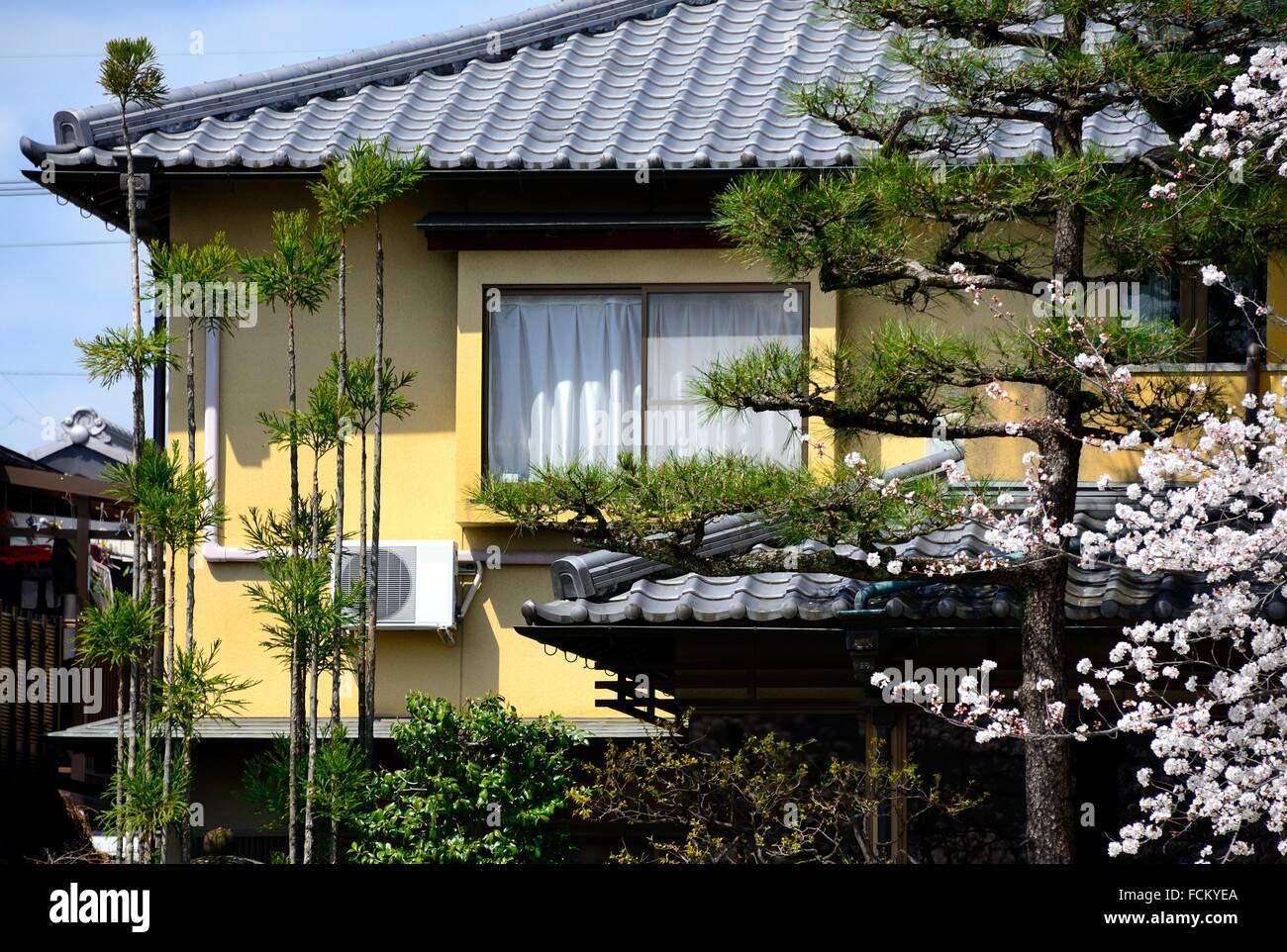modernes japanisches Haus, Kyoto, Japan Stockfoto, Bild: 93866370 ...