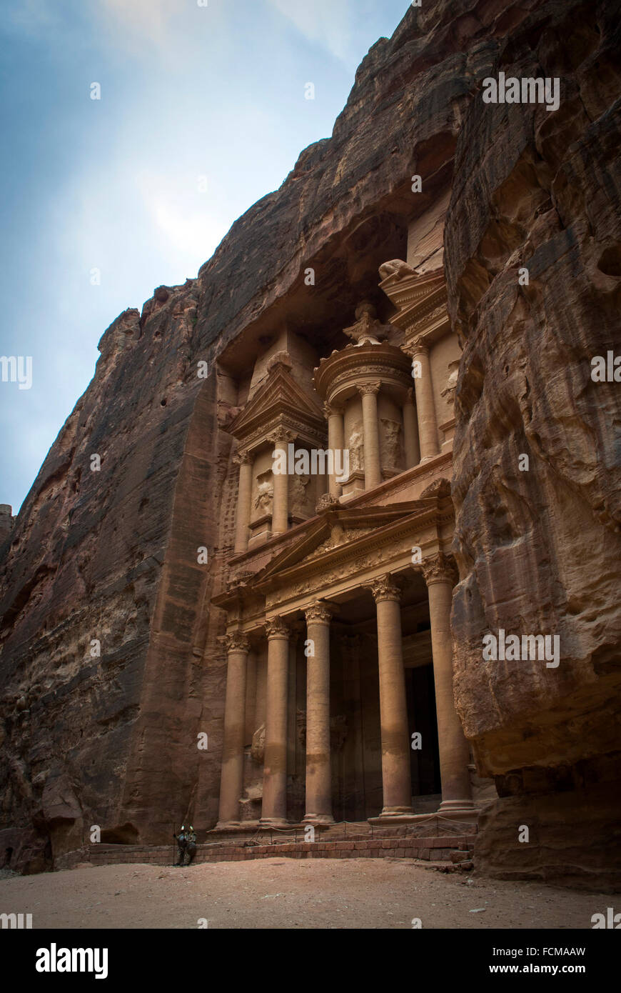 Das Finanzministerium in Petra, Jordanien Stockbild