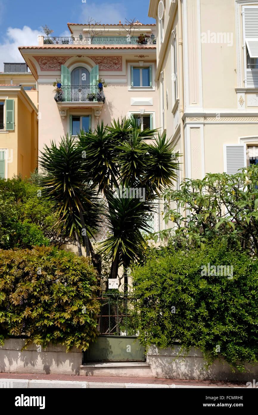 Wohlhabende Mehrfamilienhaus in Monaco. Stockbild