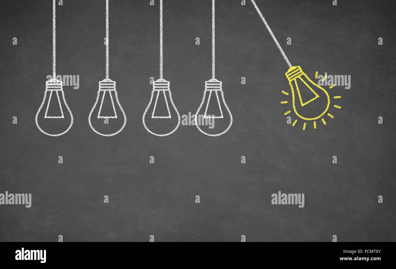 Ideen-Glühbirne Stockbild