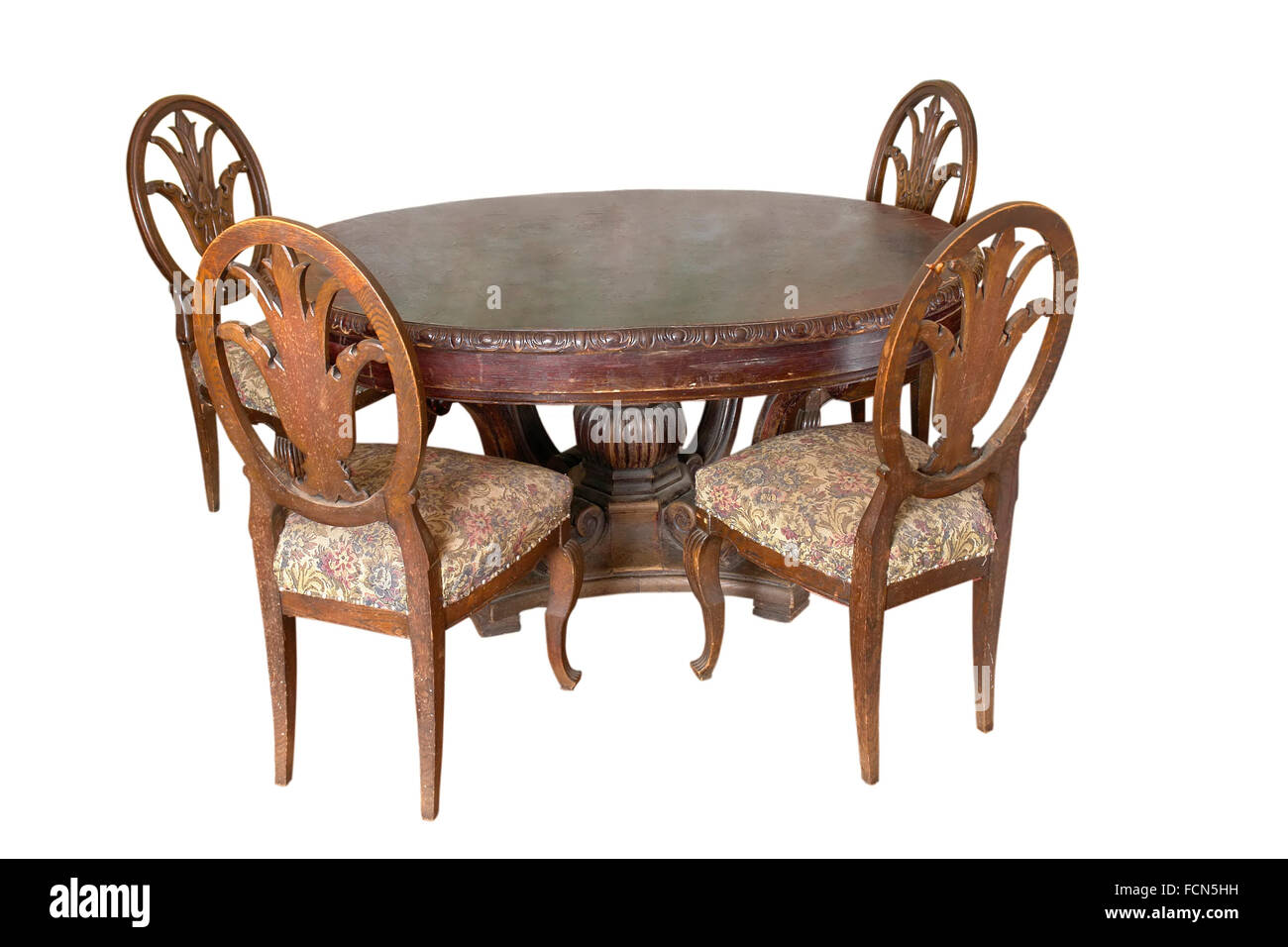 Old Fashioned Style Table Chairs Stockfotos & Old Fashioned Style ...