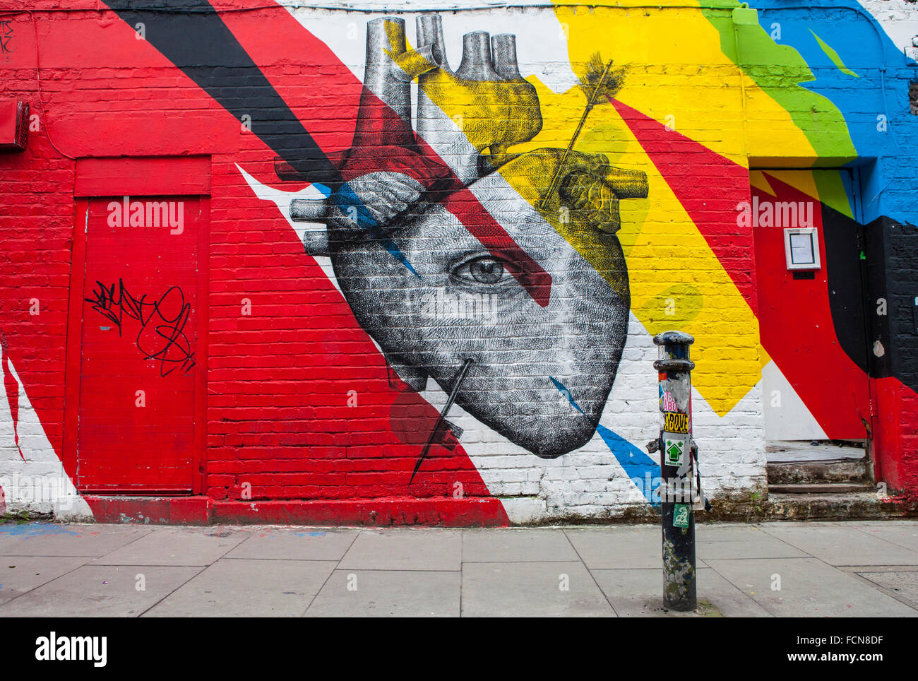 LONDON, UK - 13. Januar 2016: Urban Street Art Darstellung ein ...