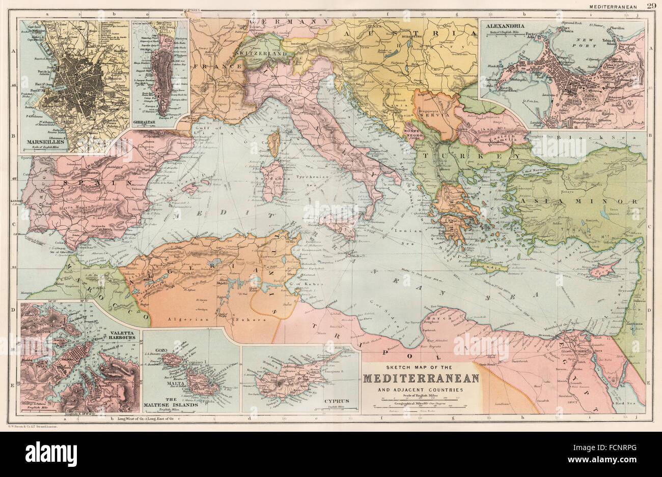 Mediterranean Map Stockfotos & Mediterranean Map Bilder - Seite 2 ...