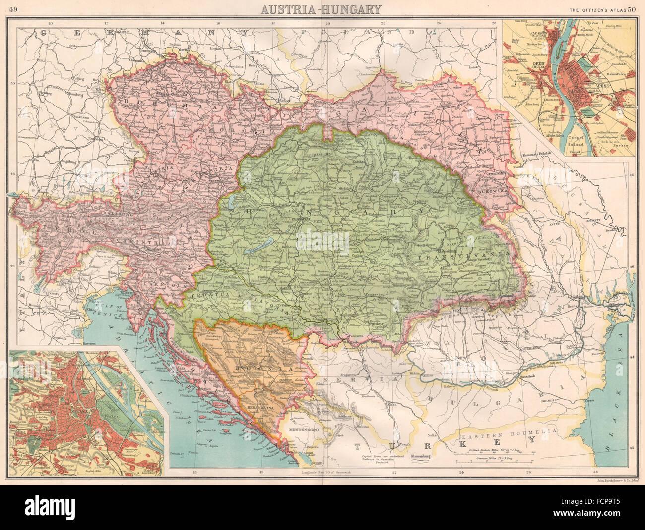 Galizien Karte.österreich Ungarn Bosnien Galizien Bohemia Vienna Offen Buda