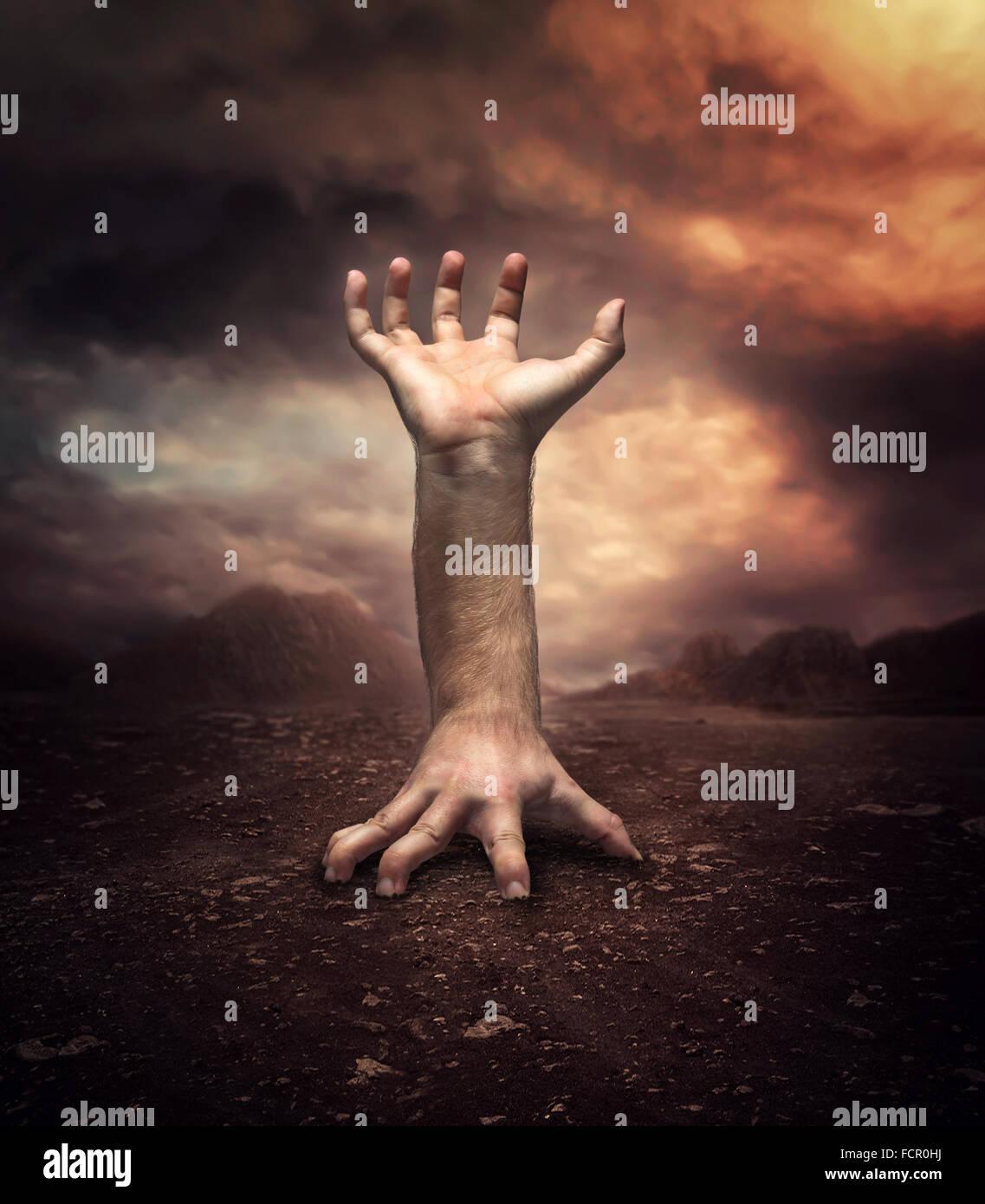 Seltsame menschliche hand Stockfoto