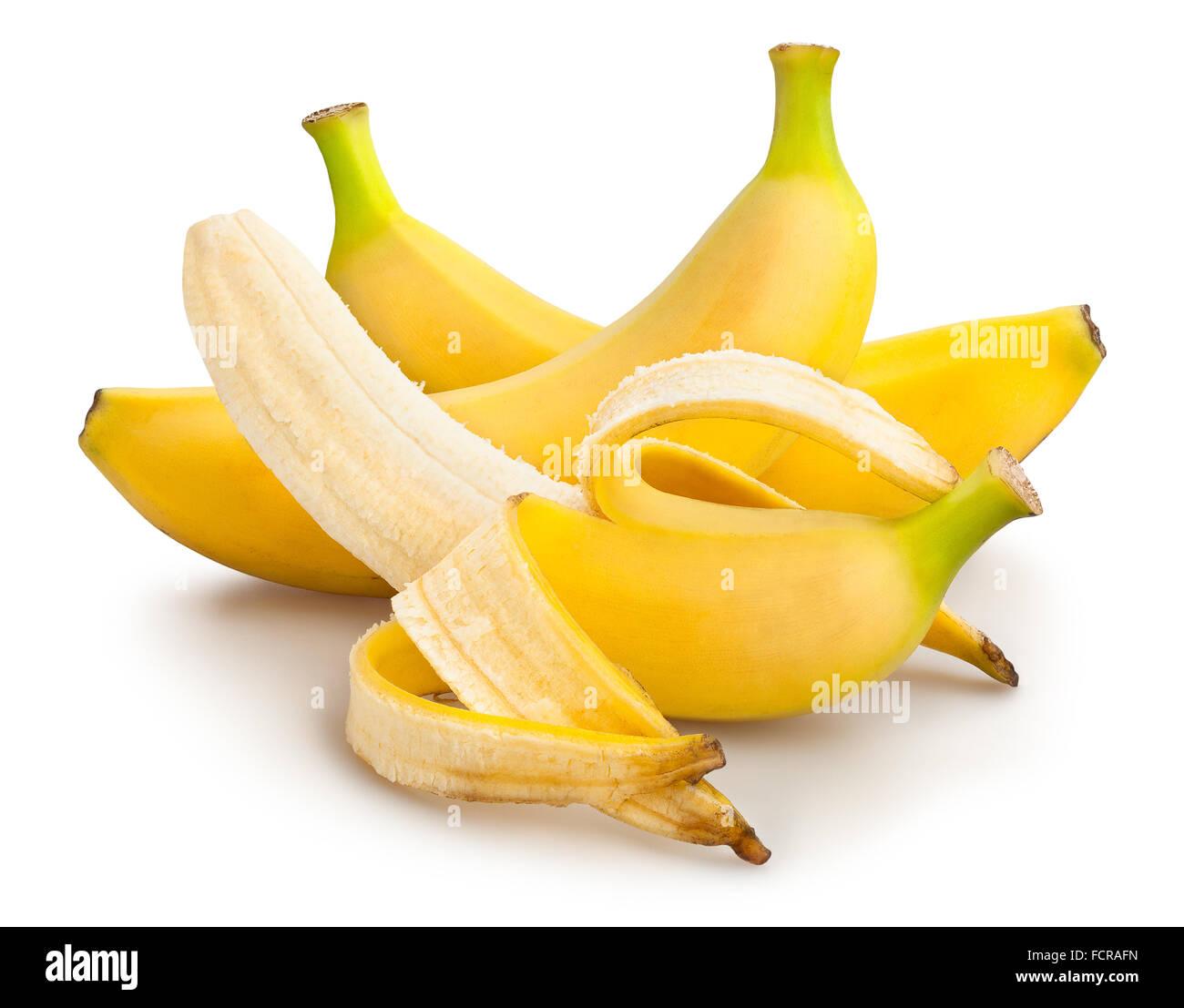 Bananen-isoliert Stockbild