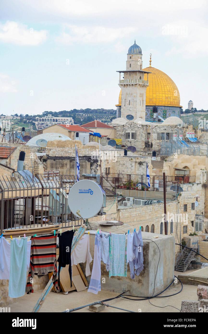 Dächer über Jerusalem Stockfoto