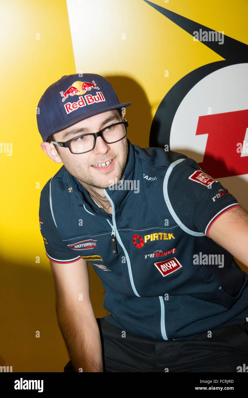 Andrew Jordan bei Autosport International 2016 NEC Birmingham UK Stockbild