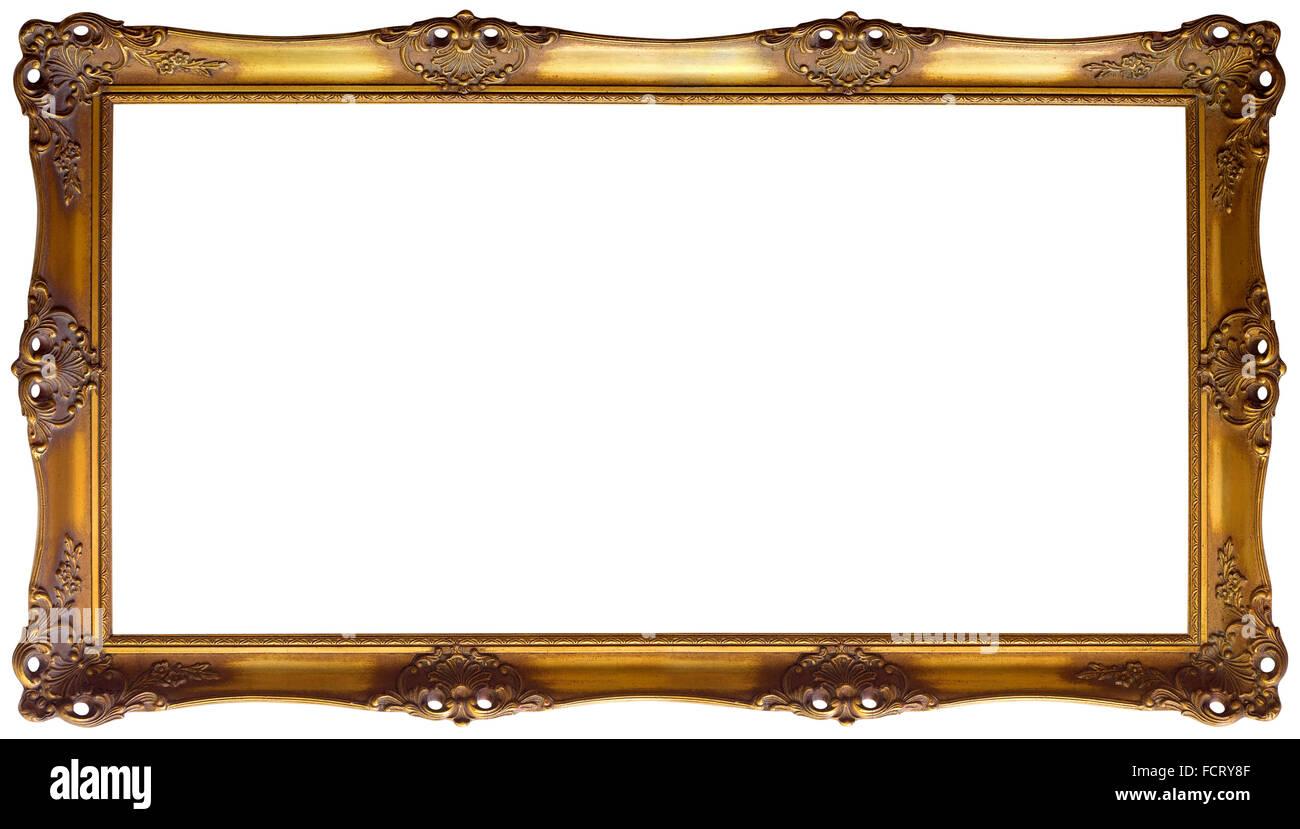 Reich verzierte goldene barocke Bilderrahmen Stockfoto, Bild ...