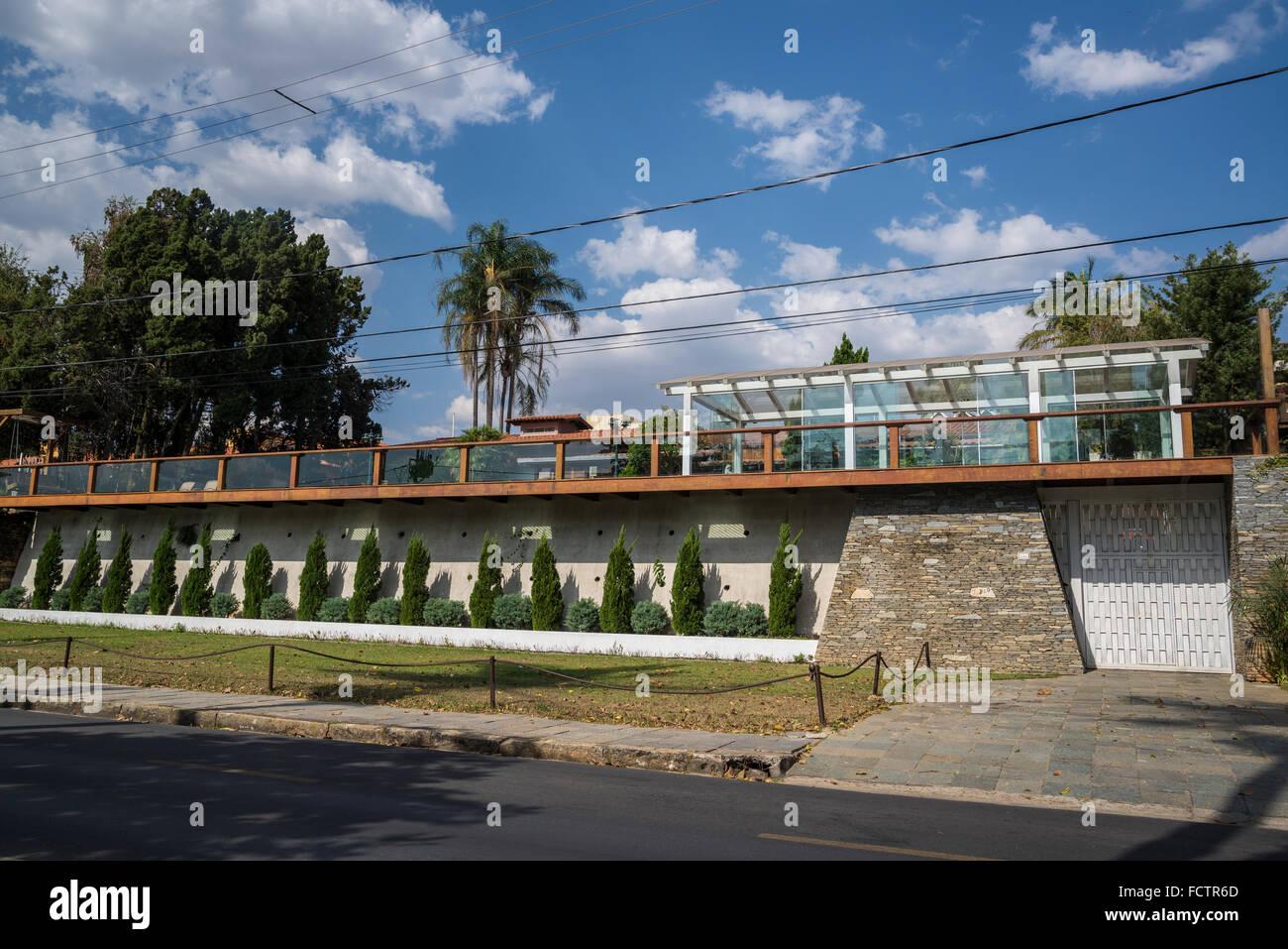 Wohlhabende Wohneigentum, Pampulha, Belo Horizonte, Minas Gerais, Brasilien Stockbild